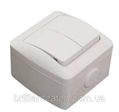 Выключатель 2клв белая EVA