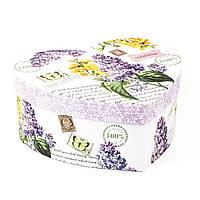 Подарочная коробка в форме сердца Сирень, фото 1