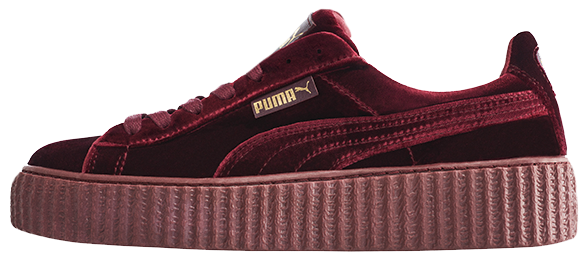 Кроссовки женские Puma Suede x Fenty by Rihanna Velvet Creepers-Royal Purple, пума риана