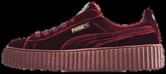 Кроссовки женские Puma Suede x Fenty by Rihanna Velvet Creepers-Royal Purple, пума риана, реплика