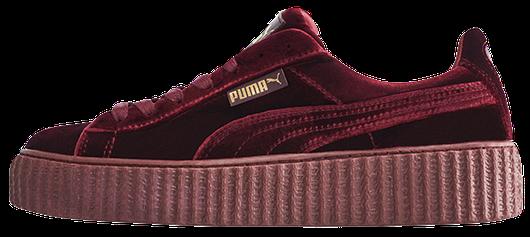 Кроссовки женские Puma Suede x Fenty by Rihanna Velvet Creepers-Royal  Purple, пума риана 16a6576042d