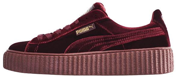 finest selection 7422f 500b2 Кроссовки женские Puma Suede x Fenty by Rihanna Velvet Creepers-Royal  Purple, пума риана