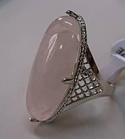 """Крупный перстень""""Болеро"""" с розовым кварцем, размер 17.7  от студии LadyStyle.Biz, фото 1"""