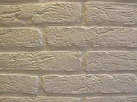 Камень декоративный Старый кирпич (белый)