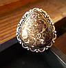 Красивое кольцо с агатом-турителлой, размер 18,8 от студии LadyStyle.Biz