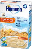 Каша HUMANA молочная 5 злаков с печеньем сухая для детей от 6-ти месяцев 200 г