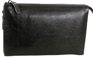 Классический мужской кожаный клатч BLACK006-3 черный