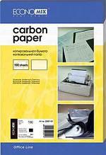 Папір копіювальний Economix 20501-01, А4, 100 арк., чорний