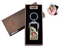 """Спиральная USB зажигалка-брелок """"Орлы"""" №4824B-2, модный и стильный аксессуар, практичное приобретение"""