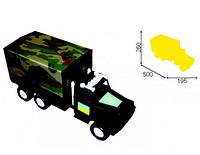 Детская военная машинка МУССОН фургон с тентом / В Т М 207 Орион