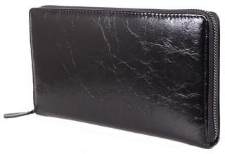 Стильный мужской кожаный клатч BLACK002-1 черный
