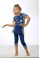 Комплект футболка и капри для девочки SEXEN  37428
