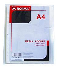 Файл Norma, 5705, А4, 40 мкн, 100 шт.
