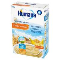 Каша HUMANA молочная 5 злаков с бананом сухая для детей от 6-ти месяцев 200 г