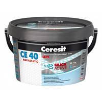 Эластичный водостойкий цветной шов до 6 мм Ceresit CE 40 Aquastatic графит 16