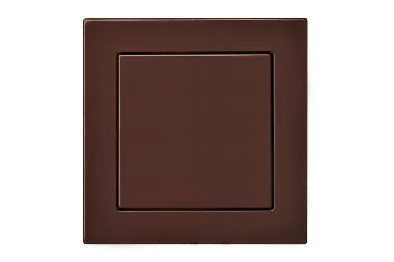 Выключатель 1 клавишный, коричневый, Epsilon