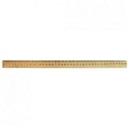 Лінійка дерев'яна шовкографія 40 см, фото 2