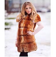Женский меховой жилет из лисы