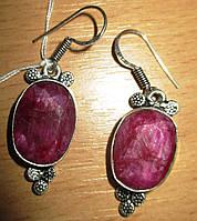 """Хорошенькие серьги """"Мимоза"""" с  яркими рубинами  от студии LadyStyle.Biz, фото 1"""
