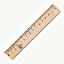 Лінійка дерев'яна шовкографія 15 см
