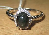 Изящное колечко с черным  опалом , размер 18  от студии LadyStyle.Biz, фото 1