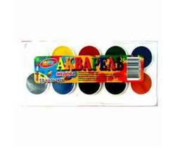 Фарба акварельна Колорит, 10 кольорів,  пластикова коробка, КАП-10