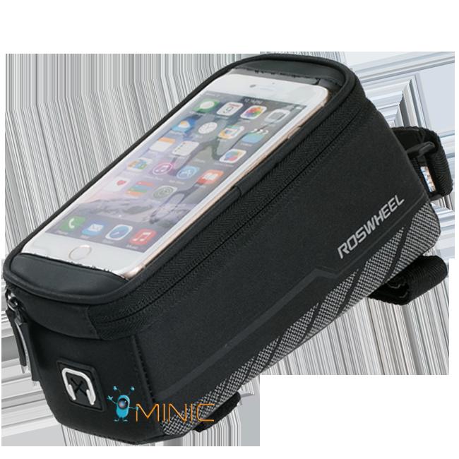 Велосипедная сумка на раму для смартфона Roswheel Elite 12496-A6