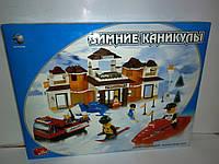 "Koнcтpуктop ""Зимние каникулы"" B416406R / M38-B0107, 420 деталей"