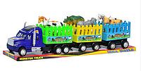 Детская игрушка Трейлер 906-157 A инерционный с прицепами для животных