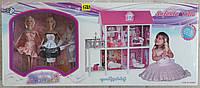Игрушечный двухэтажный дом для куклы Барби