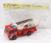 Детская пожарная машина 666 инерционная с подвижной стрелой в кульке (16 х 7 х 5,5 см) HN