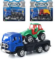 Детская машинка-трейлер инерционная 368-3-3В-4В Транспорт HN