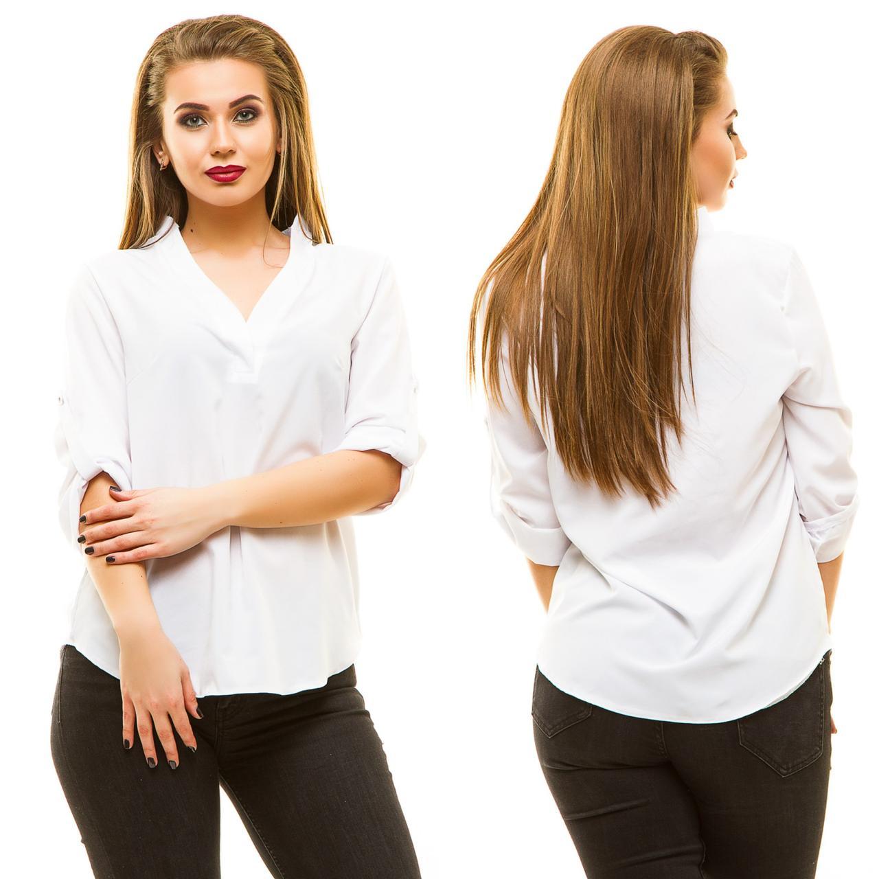 """Стильная женская блуза """"Laska"""" с коротким рукавом (большие размеры)"""