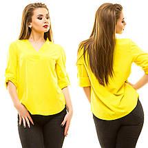 """Стильная женская блуза """"Laska"""" с коротким рукавом (большие размеры), фото 3"""