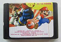 Картридж Sega 16 бит A-91002(русская версия) сборник игр 9 IN 1