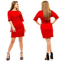 """Короткое облегающее платье """"Leleya"""" с поясом и рукавом летучая мышь (большие размеры), фото 2"""