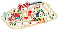 Деревянная железная дорога 130 елементов