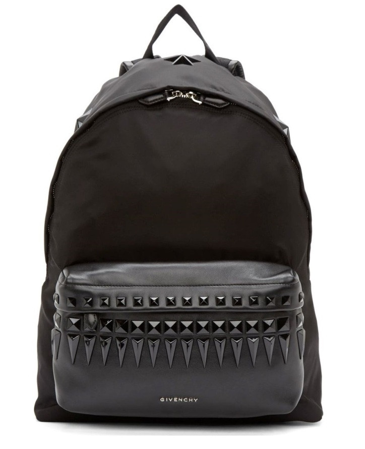 Женский рюкзак, копия Givenchy MCM1-804A, черный 17 л