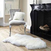 Шкура овечья натуральная белая, размер 120х80