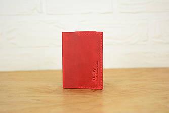 Обложка на паспорт из натуральной кожи |10501| Красный