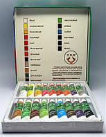 Набор акриловых красок 18 цветов 12мл, краски акриловые YRE YCR-08, краски для ногтей