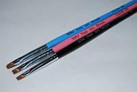 Кисть для геля искусственная №6, кисть YRE YKGB-06, ногти роспись рисунки на ногтях