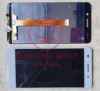 Huawei Y6 II CAM-L21 дисплей в зборі з тачскріном модуль білий