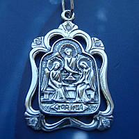 Серебряная подвеска-ладанка с камнями Святая Троица
