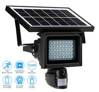Прожектор - камера видеорегистратор с датчиком движения на солнечной батарее 40 LED , фото 1
