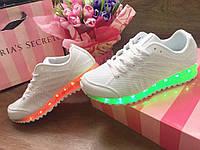 Кроссовки LED со Светящейся Подошвой.Новинка