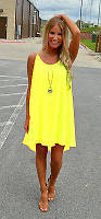 Пляжная туника платье желтая