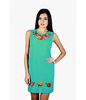e83f01ad00f Женское летнее платье с вышитыми цветами