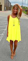 Женская легкая платье туника желтого цвета