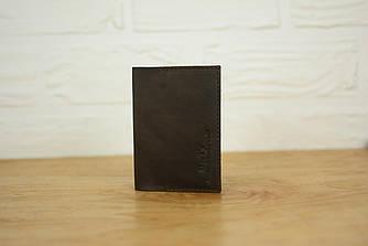 Обложка на паспорт из натуральной кожи |10503| Шоколад